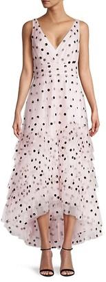 Marchesa Sequin-Embellished Midi Dress