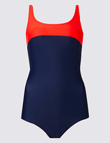 M&S Collection Secret SlimmingTM Top Panel Swimsuit