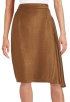 Nina Ricci Side Draped Textured Skirt