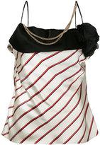 Lanvin embellished striped blouse - women - Silk/Polyamide/Polyester/glass - 36