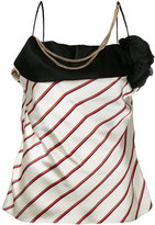 Lanvin embellished striped blouse - women - Triacetate/Polyester/Acetate/Silk - 36
