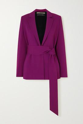 Roland Mouret Balair Belted Stretch-crepe Blazer - Purple