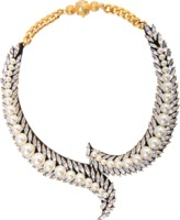Shourouk Piuma beaded necklace