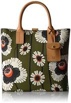 Orla Kiely Textured Vinyl Poppies and Daisies Print Laurel Tote