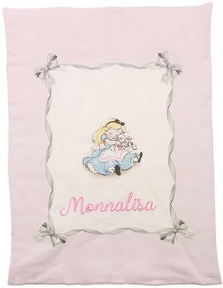 MonnaLisa Alice Print Cotton Jersey Blanket