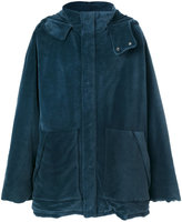 Yeezy oversized hooded coat - men - Cotton/Polyamide - S