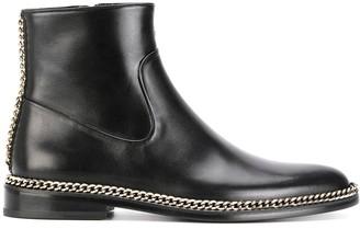 Lanvin Chain Trim Ankle Boots