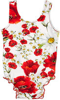 Dolce & Gabbana FLORAL TANK SWIMSUIT-RED SIZE 3/6