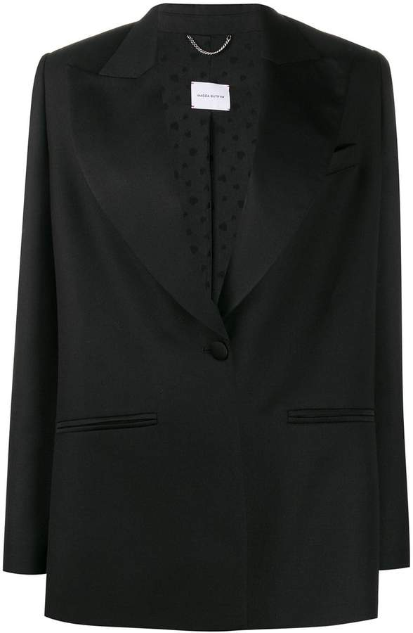 Magda Butrym single breasted tuxedo blazer