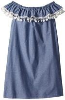 Fiveloaves Twofish fiveloaves twofish Catalina Dress (Little Kids/Big Kids) (Denim) Girl's Dress