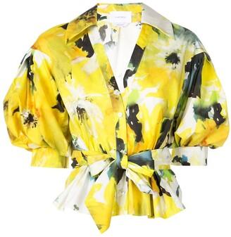 Marchesa floral print blouse