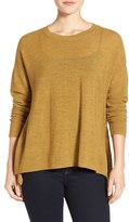 Eileen Fisher Women's Merino Wool Ballet Neck Elliptical Hem Sweater
