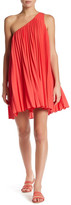 Trina Turk Skyla One Shoulder Pleated Dress