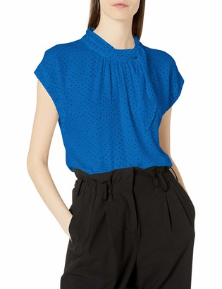 Vince Camuto Vince Camtuo Women's Smock Neck Tie Blouse