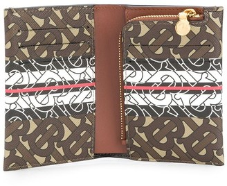 Burberry Vivian monogram strap wallet