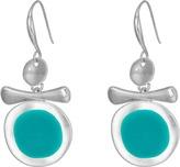 Robert Lee Morris Silver and Teal Enamel Earrings Earring