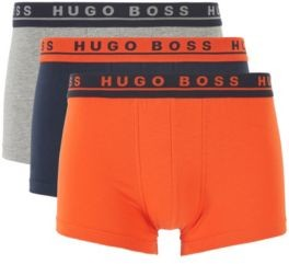 HUGO BOSS Three Pack Of Stretch Cotton Trunks With Logo Waistbands - Patterned