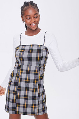 Forever 21 Plaid Cami Mini Dress