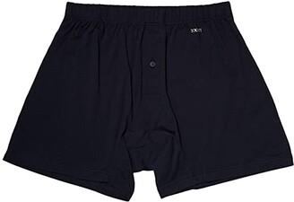 2xist Pima Knit Boxer (Black New Logo) Men's Underwear