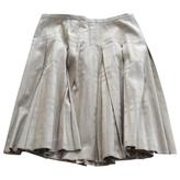 Burberry Gold Cotton Skirt