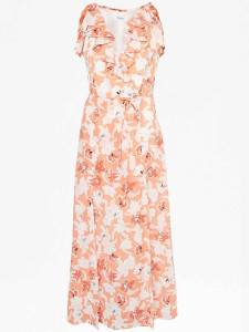 Great Plains Rust Tulum Maxi Dress - 12 - Orange/White