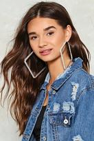 Nasty Gal Times Square Diamante Earrings