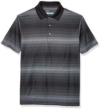 PGA TOUR Men's Big and Tall Short Sleeve Jacquard Polo Shirt