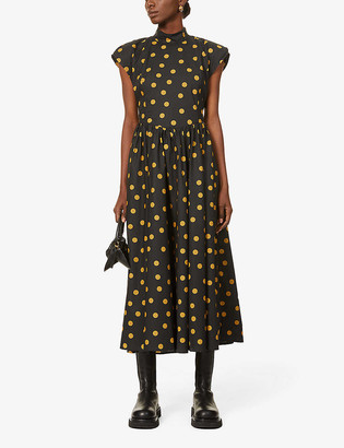 Gestuz Cassia polka dot organic-cotton midi dress