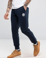 Timberland Slim Logo Cuffed Sweatpants In Navy