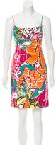 Milly Abstract Printed Sleeveless Dress