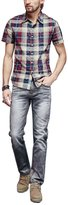 Liveinu Men's Stretch Slim Fit Jeans Blue 38