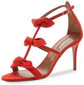Aquazzura St. Tropez Bow 85mm Suede Sandal