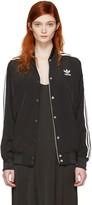 adidas Black Trefoil Logo Bomber Jacket