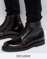 Hudson London Exclusive To Asos Leather Laceup Boots