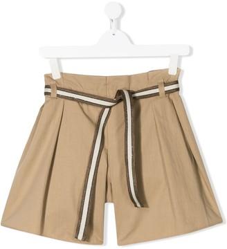 BRUNELLO CUCINELLI KIDS TEEN tie-waist shorts