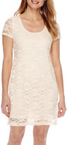 Tiana B Short-Sleeve Lace Sheath Dress - Petite