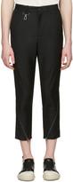 D.gnak By Kang.d Black Oblique Zip Cuffs Trousers