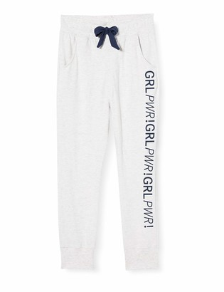 Sanetta Girl's Athleisure Hose Ecru Melange Pajama Bottom