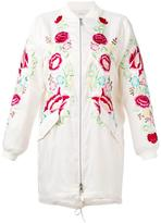 P.A.R.O.S.H. embroidered floral zip-up coat
