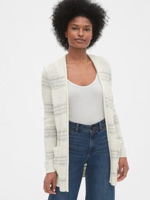 Gap Longline Stripe Open-Front Cardigan Sweater