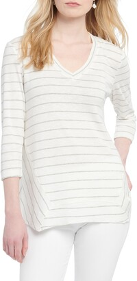 Nic+Zoe Cape Stripe V-Neck Top