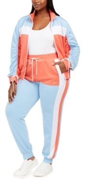 Lala Anthony Trendy Plus Size Colorblocked Track Pants
