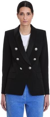 Balmain Blazer In Black Viscose