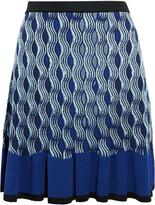Mary Katrantzou Pollie pleated jacquard-knit mini skirt