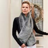 The White Company Stripe Faux-Fur Stole