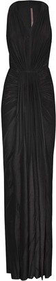 Rick Owens Lilies Gathered Front Sleeveless Gown Dress