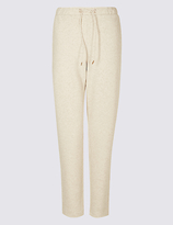 Classic Textured Tapered Leg Trousers