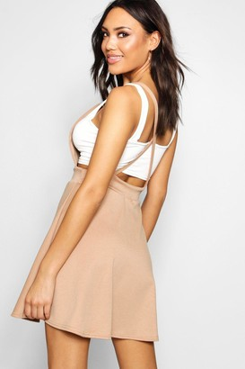 boohoo Cross Back Pinafore Dress
