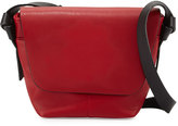 Neiman Marcus Knots Faux-Leather Crossbody Bag, Red