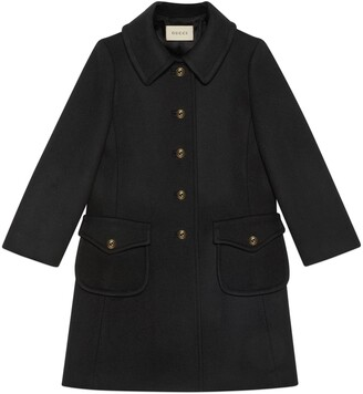 Gucci Wool coat with logo buttons